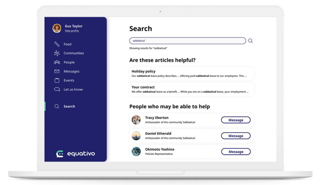 equativo employee engagement tool